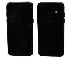 Pachet Recarosare Samsung Galaxy A3 2017 A320 Black Negru Original Display, Rama display, Capac spate, Baterie, Modul incarcare