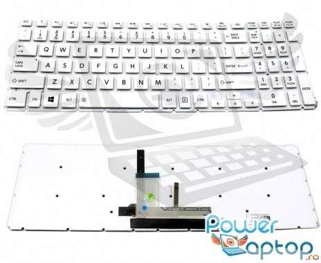 Tastatura Toshiba Satellite C55-C Alba iluminata. Keyboard Toshiba Satellite C55-C. Tastaturi laptop Toshiba Satellite C55-C. Tastatura notebook Toshiba Satellite C55-C