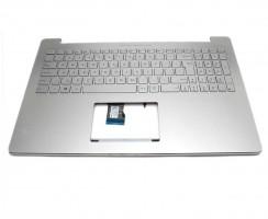 Tastatura Asus 0K200-00250000 argintie cu Palmrest argintiu iluminata backlit. Keyboard Asus 0K200-00250000 argintie cu Palmrest argintiu. Tastaturi laptop Asus 0K200-00250000 argintie cu Palmrest argintiu. Tastatura notebook Asus 0K200-00250000 argintie cu Palmrest argintiu