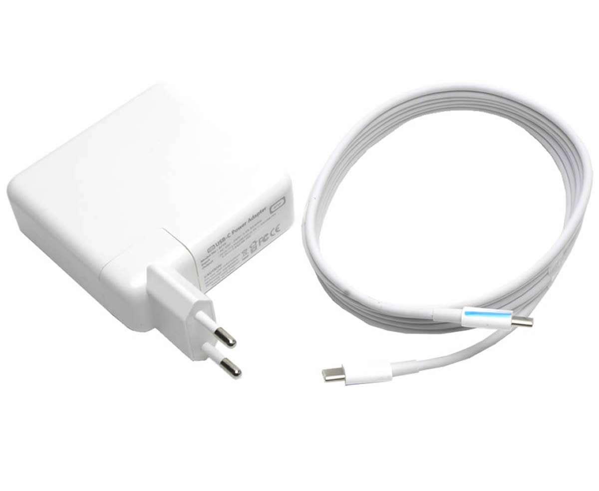 Incarcator Apple MacBook Pro 13 A1708 Mid 2017 61W mufa USB-C Replacement imagine