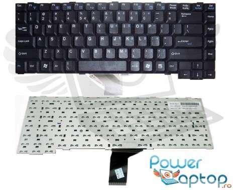 Tastatura Fujitsu Siemens  7610GW neagra. Keyboard Fujitsu Siemens  7610GW neagra. Tastaturi laptop Fujitsu Siemens  7610GW neagra. Tastatura notebook Fujitsu Siemens  7610GW neagra
