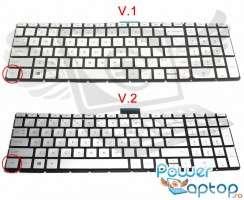 Tastatura HP Pavilion 15-BC argintie iluminata. Keyboard HP Pavilion 15-BC. Tastaturi laptop HP Pavilion 15-BC. Tastatura notebook HP Pavilion 15-BC