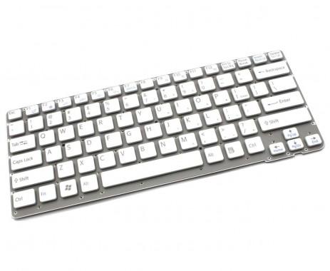 Tastatura Sony Vaio VPCCA190X alba. Keyboard Sony Vaio VPCCA190X. Tastaturi laptop Sony Vaio VPCCA190X. Tastatura notebook Sony Vaio VPCCA190X