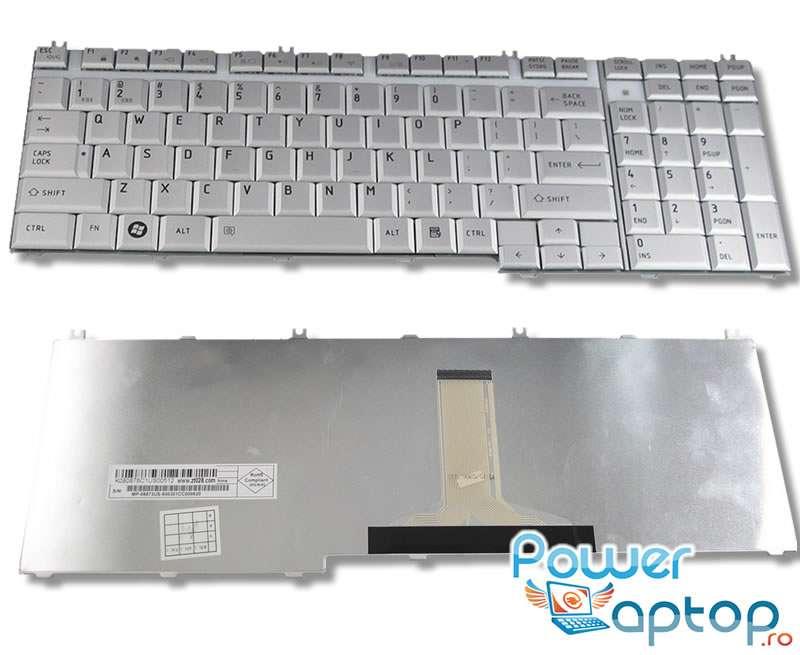 Tastatura Toshiba Satellite L555 S7929 argintie imagine powerlaptop.ro 2021