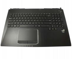 Tastatura Asus G750JM iluminata cu Palmrest negru si Touchpad. Keyboard Asus G750JM iluminata cu Palmrest negru si Touchpad. Tastaturi laptop Asus G750JM iluminata cu Palmrest negru si Touchpad. Tastatura notebook Asus G750JM iluminata cu Palmrest negru si Touchpad