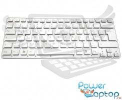 Tastatura Sony Vaio VPCCA4S1E G argintie iluminata. Keyboard Sony Vaio VPCCA4S1E G. Tastaturi laptop Sony Vaio VPCCA4S1E G. Tastatura notebook Sony Vaio VPCCA4S1E G