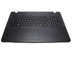 Tastatura Asus  X751LX neagra cu Palmrest negru. Keyboard Asus  X751LX neagra cu Palmrest negru. Tastaturi laptop Asus  X751LX neagra cu Palmrest negru. Tastatura notebook Asus  X751LX neagra cu Palmrest negru