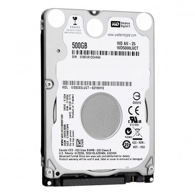 HDD Laptop Western Digital 500GB 5400RPM 16MB CACHE SATA2 WD5000LUCT