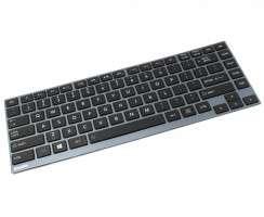 Tastatura Toshiba  AEBU6F00010 FR Rama albastra iluminata backlit. Keyboard Toshiba  AEBU6F00010 FR Rama albastra. Tastaturi laptop Toshiba  AEBU6F00010 FR Rama albastra. Tastatura notebook Toshiba  AEBU6F00010 FR Rama albastra