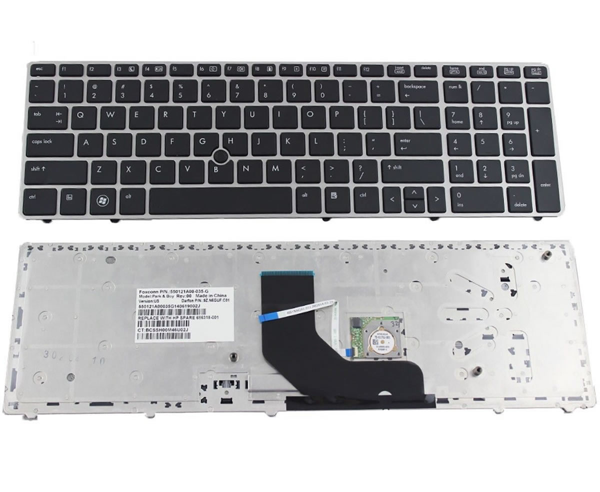 Tastatura HP 9Z.N6GSF.30S rama argintie imagine powerlaptop.ro 2021