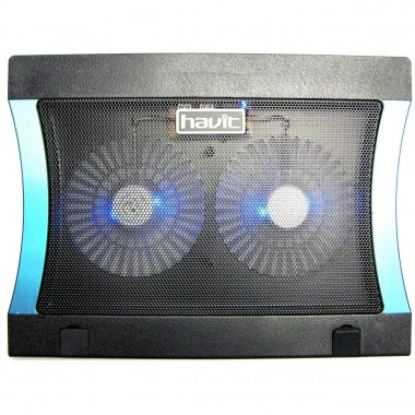 Cooler Stand Laptop Notebook Havit 2 Ventilatoare cu Nivel Reglabil Slot USB si LED
