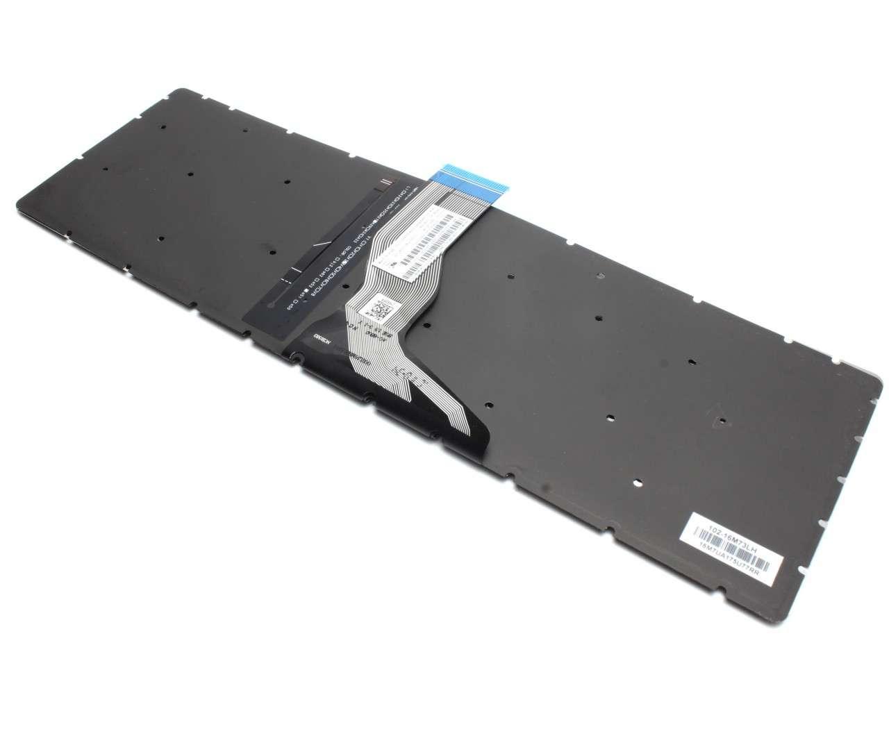 Tastatura HP 15-bw001AX iluminata layout US fara rama enter mic imagine powerlaptop.ro 2021