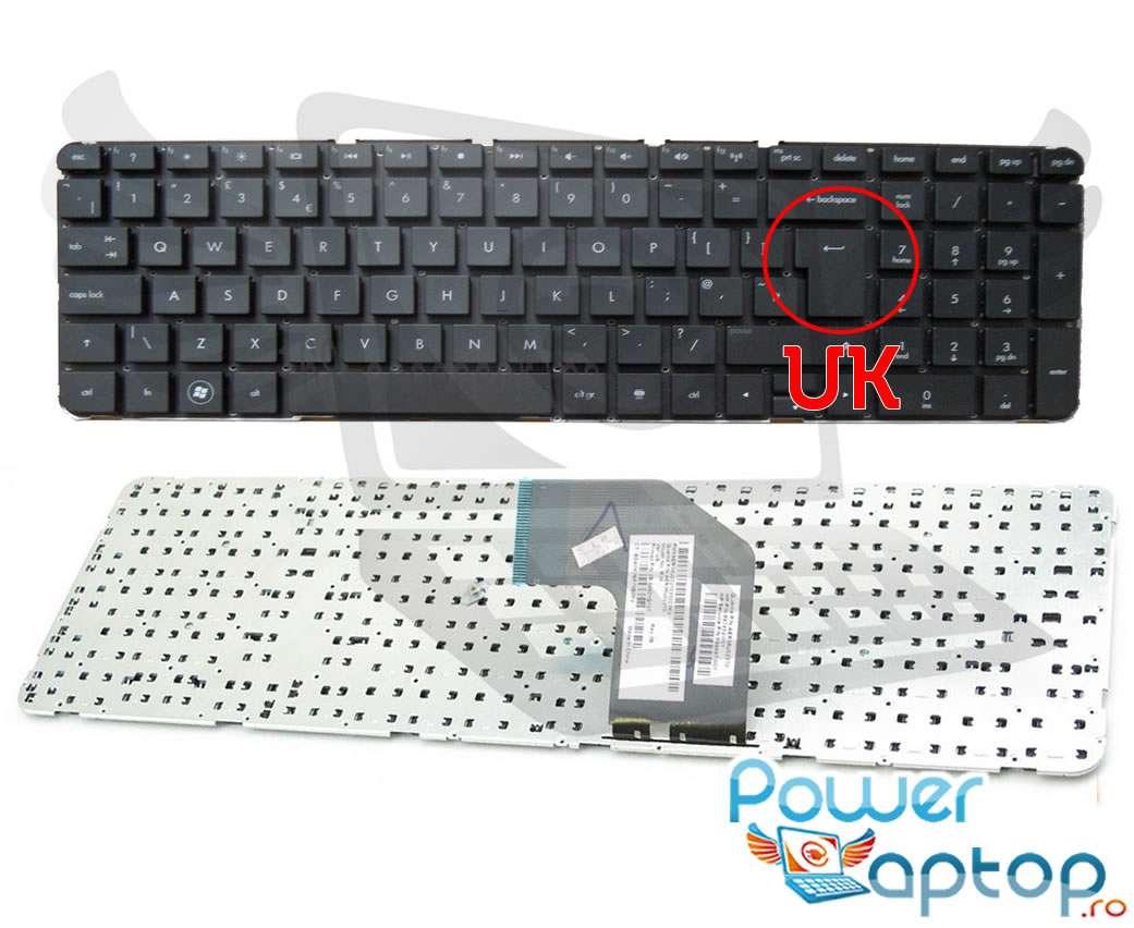 Tastatura HP 699498-251 layout UK fara rama enter mare imagine