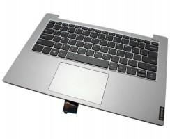 Tastatura Lenovo 5CB0S18409 Neagra cu Palmrest Gri si TouchPad iluminata backlit. Keyboard Lenovo 5CB0S18409 Neagra cu Palmrest Gri si TouchPad. Tastaturi laptop Lenovo 5CB0S18409 Neagra cu Palmrest Gri si TouchPad. Tastatura notebook Lenovo 5CB0S18409 Neagra cu Palmrest Gri si TouchPad