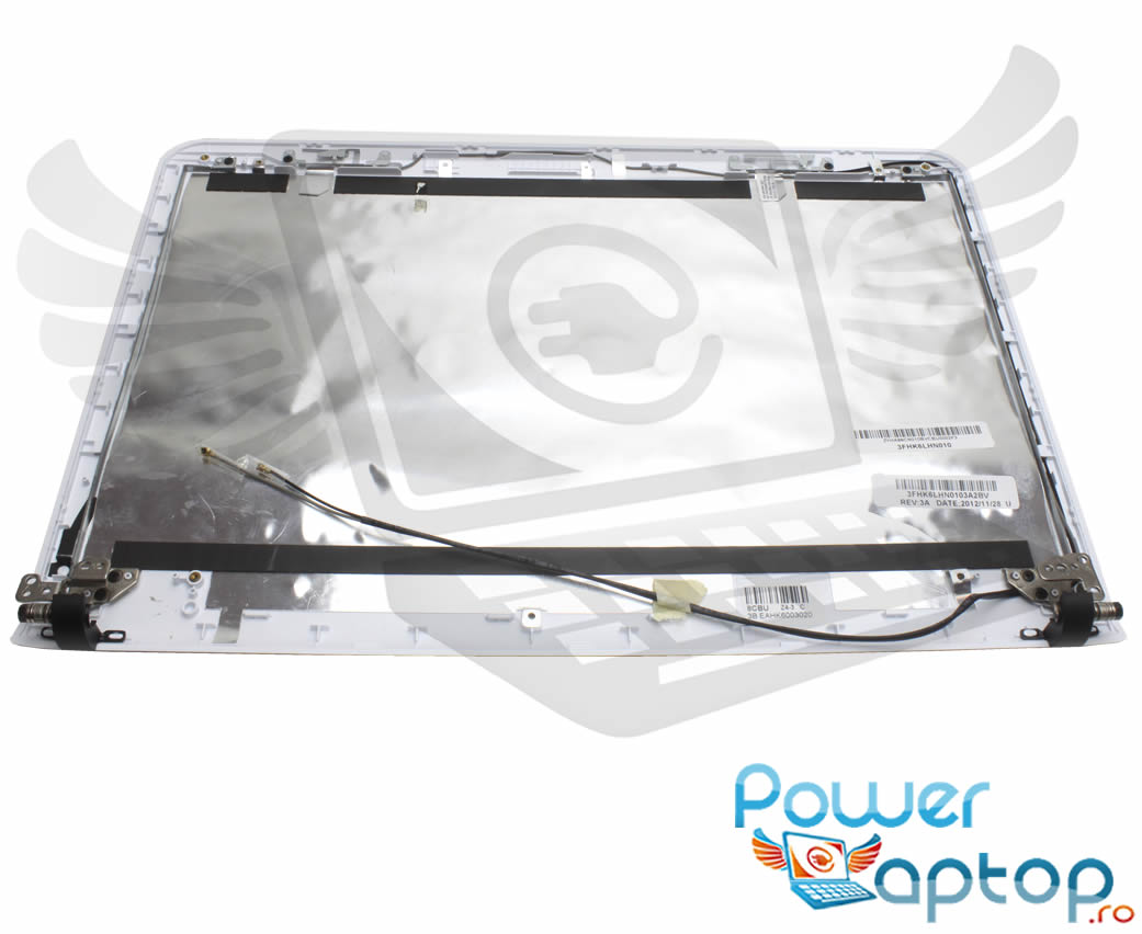 Capac Display BackCover Sony Vaio SVE1411E1RB Carcasa Display Alba imagine powerlaptop.ro 2021