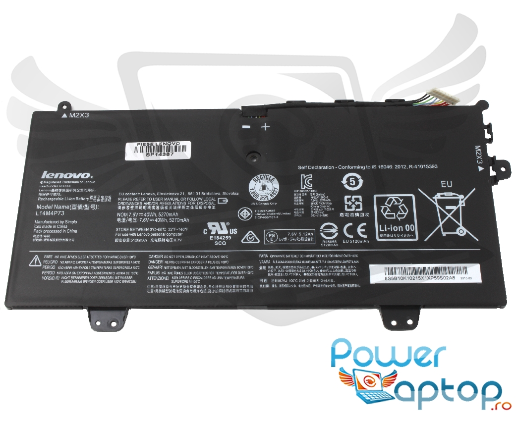 Baterie Lenovo Yoga 700 11ISK Originala imagine powerlaptop.ro 2021