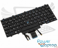 Tastatura Dell Latitude 13 7350 iluminata. Keyboard Dell Latitude 13 7350. Tastaturi laptop Dell Latitude 13 7350. Tastatura notebook Dell Latitude 13 7350
