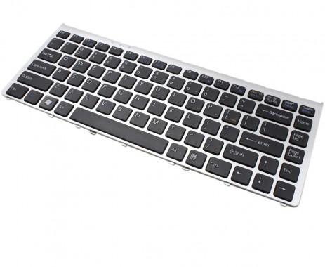 Tastatura Sony Vaio VGN-FW93JS neagra cu rama gri. Keyboard Sony Vaio VGN-FW93JS neagra cu rama gri. Tastaturi laptop Sony Vaio VGN-FW93JS neagra cu rama gri. Tastatura notebook Sony Vaio VGN-FW93JS neagra cu rama gri